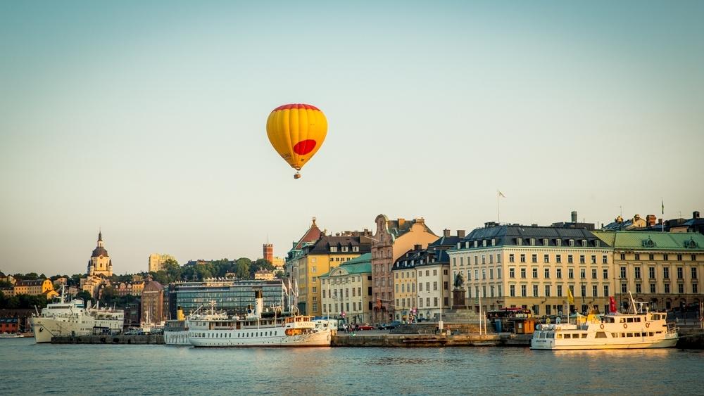 Ballon ueber Stockholm