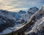 Winterliche Alpen