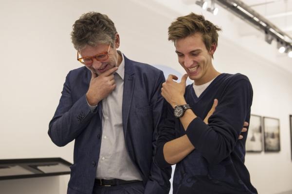 Gregor Schlierenzauer and Peter Coeln at Galerie Ostlicht Vienna on September 21, 2012