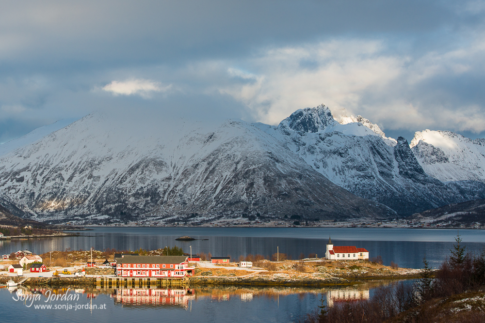 Austnesfjord im Winter